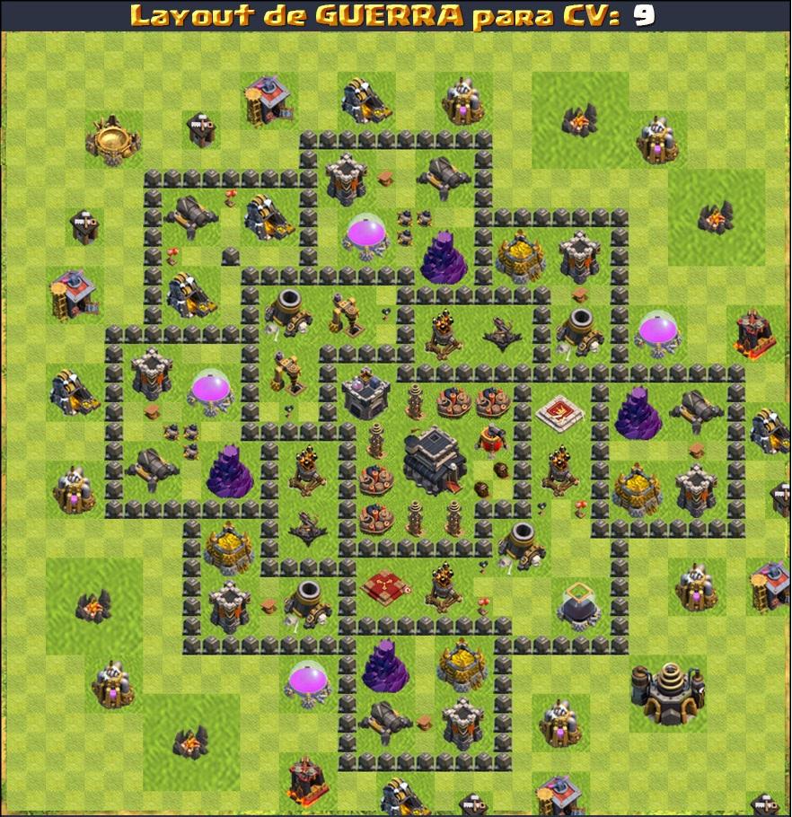 layouts de guerra para cv 4