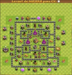 layouts de guerra para cv 4 jaum clan