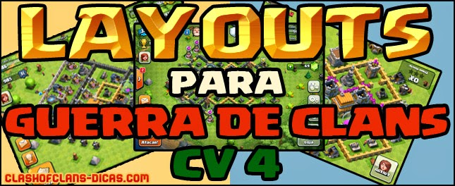 layouts guerra de clans cv4 - Layout Cv 4 Clash Of Clans